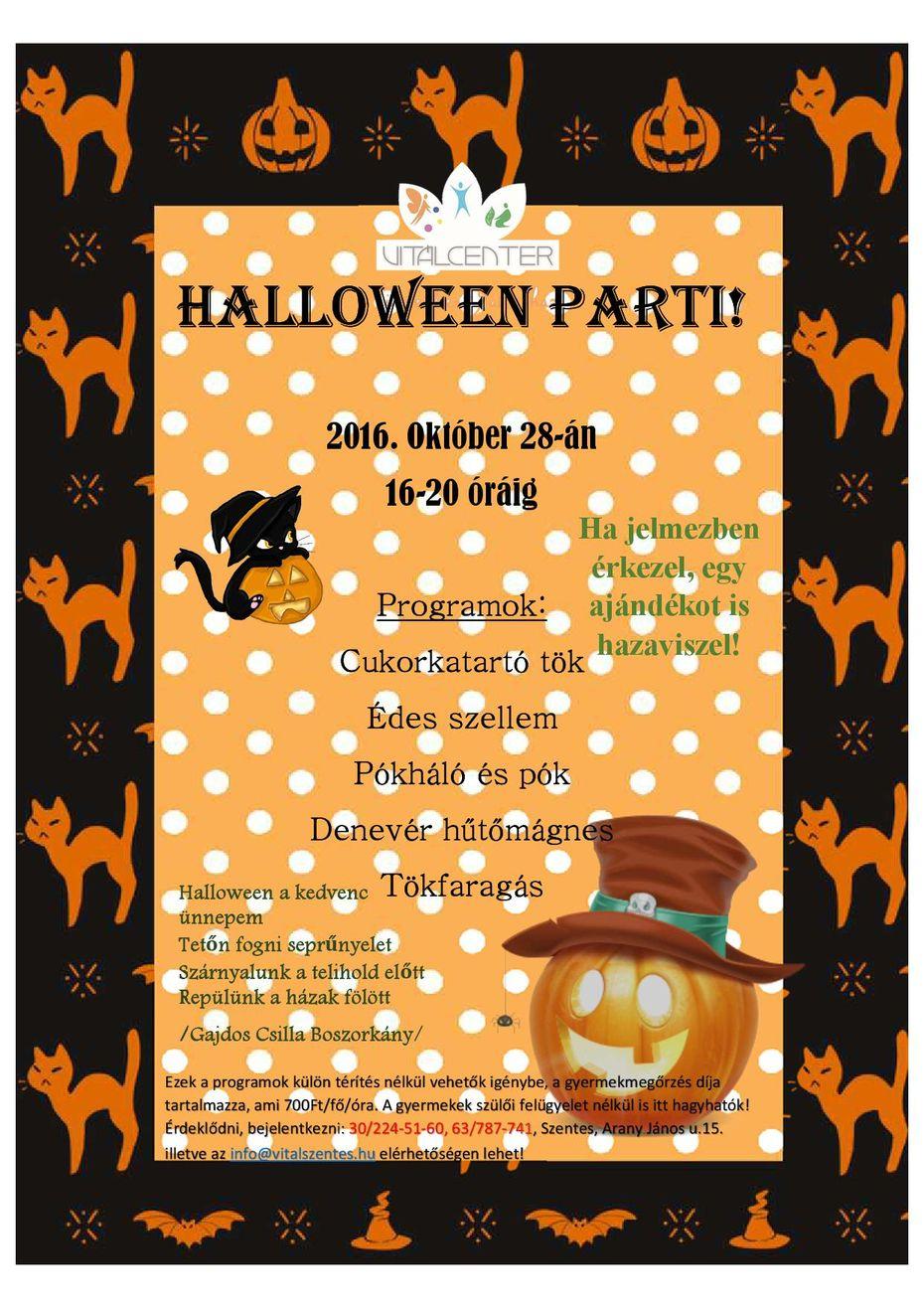Halloween party a Vitálban