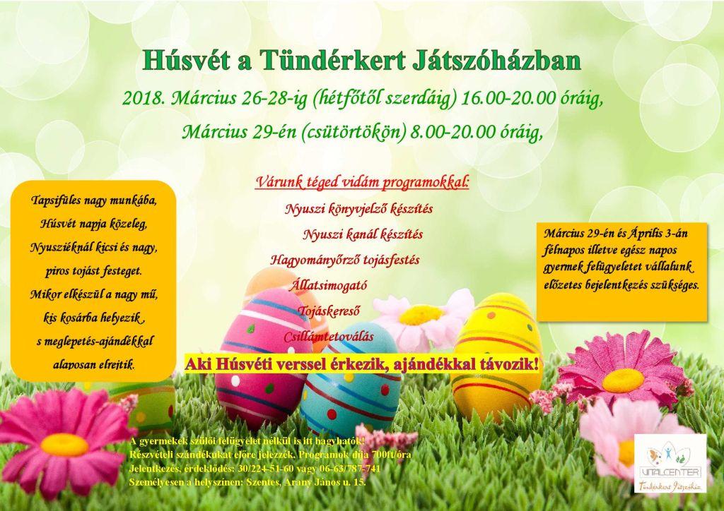 Húsvét a Tündérkert Játszóházban