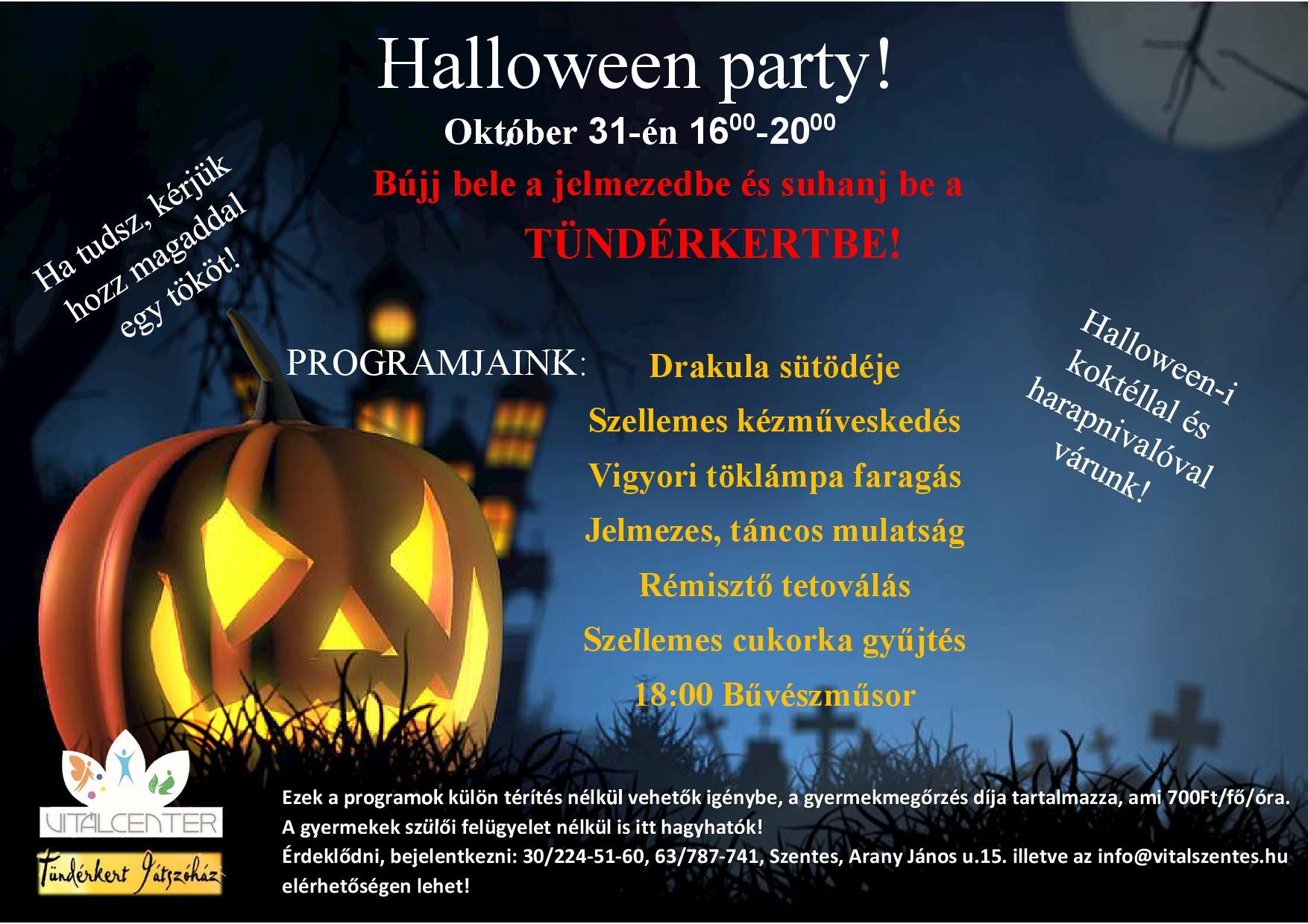 Halloween party a Vitálcenterben