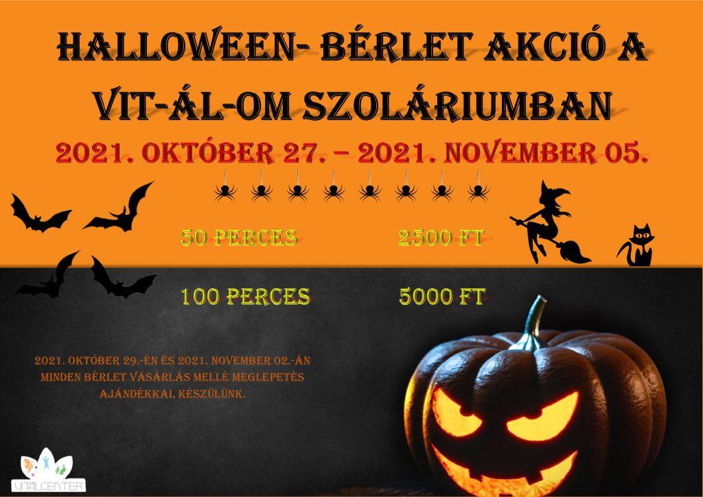 VIT-ÁL-OM szolárium Halloween bérlet akció